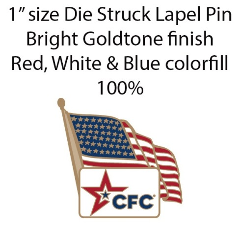 2014 CFC flag pin