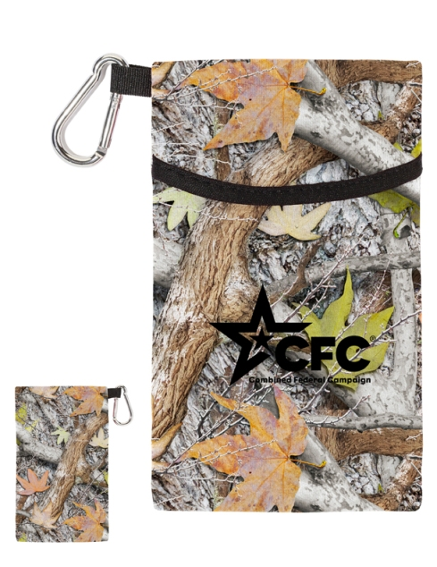 Kangaroo Tech Pocket – 2013 discount pricing with one color imprint $0.99 / 500 unit minimum. Can be run with any artwork. Stock colors: Red, Black, Blue, Carolina Blue, Navy, Lime Green, Pink.